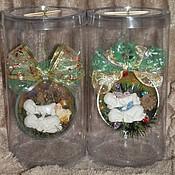 """Подарки к праздникам ручной работы. Ярмарка Мастеров - ручная работа """"Мой первый Новый год"""" елочный шар. Handmade."""
