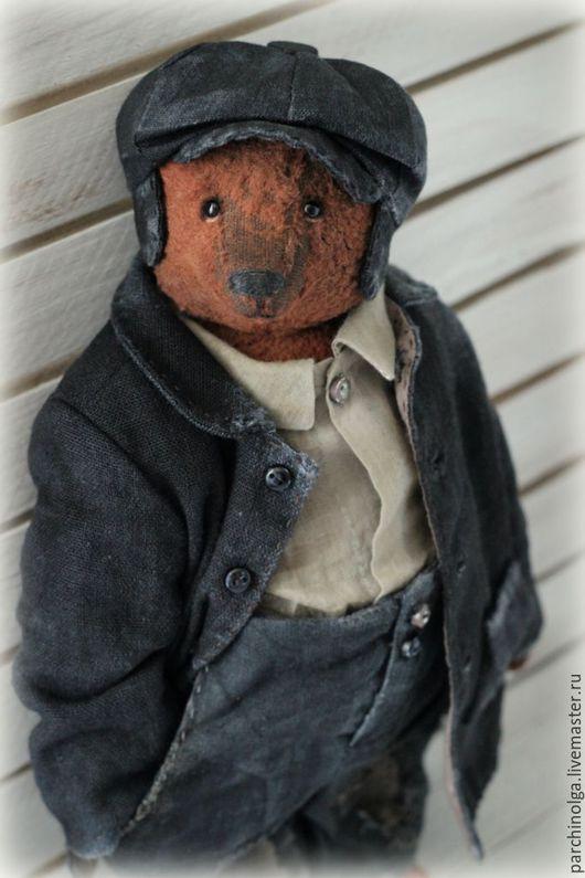 Мишки Тедди ручной работы. Ярмарка Мастеров - ручная работа. Купить Рыжий. Handmade. Черный, винтажный стиль, батист 100%
