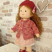 Куклы и игрушки handmade. Livemaster - original item Textile toy doll Verochka. Handmade.