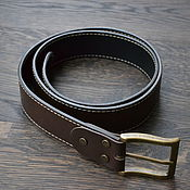 handmade. Livemaster - original item Leather belt, double-sided. Handmade.
