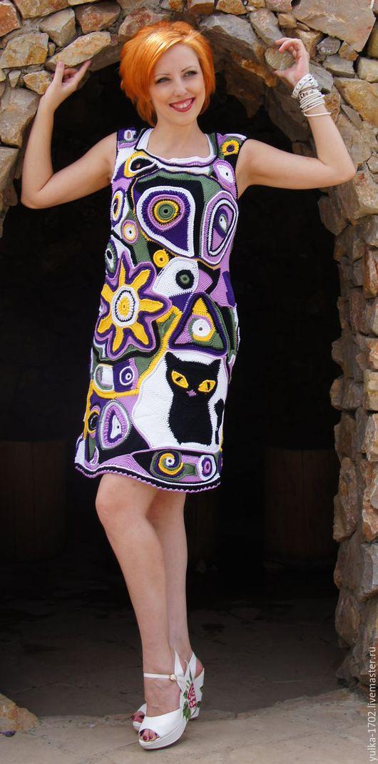 """Платья ручной работы. Ярмарка Мастеров - ручная работа. Купить Платье """"Магия"""". Handmade. Комбинированный, готовая работа, ведьмочка"""