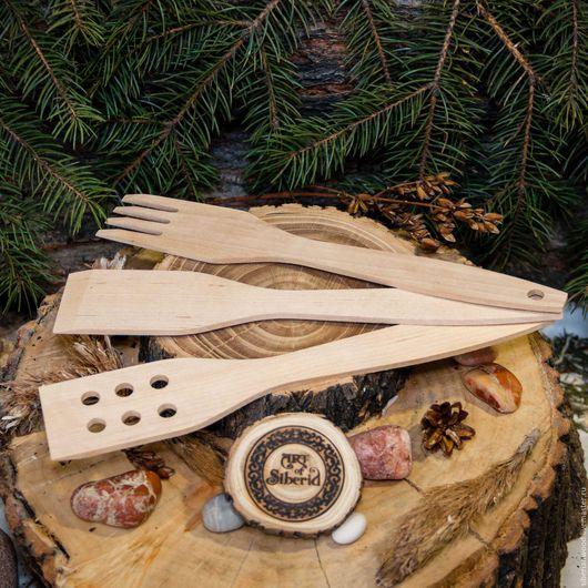 Кухня ручной работы. Ярмарка Мастеров - ручная работа. Купить Набор лопаток для приготовления пищи из натуральной сибирской березы 3. Handmade.