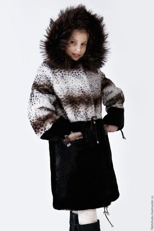 Одежда для девочек, ручной работы. Ярмарка Мастеров - ручная работа. Купить Детская шубка из мутона. Handmade. Черный, пальто