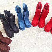 Обувь ручной работы. Ярмарка Мастеров - ручная работа Валеши удлиненные. Handmade.