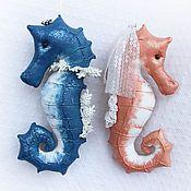 Куклы и игрушки ручной работы. Ярмарка Мастеров - ручная работа Влюбленные морские коньки. Handmade.
