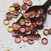 Материалы для творчества handmade. Livemaster - original item Sequins 7 mm Forest berries curly. Handmade.