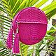 Order Summer handbag made from Python SANDRIN. Exotic Workshop Python Fashion. Livemaster. . Classic Bag Фото №3