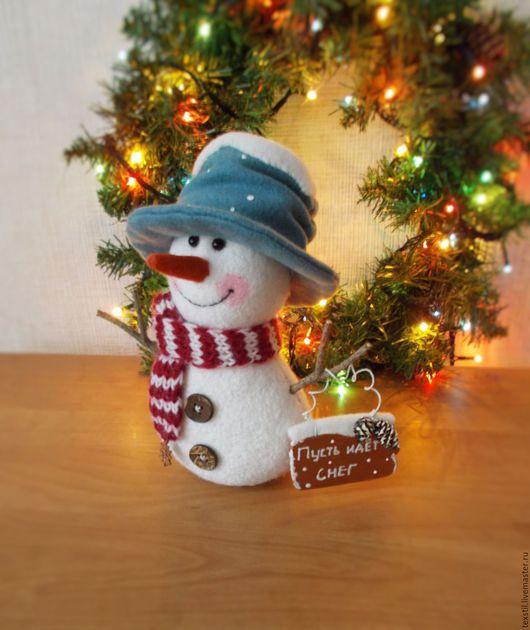 Новый год 2017 ручной работы. Ярмарка Мастеров - ручная работа. Купить Снежное Чудо))Пусть идёт снег.Игрушка Снеговик.Новый год.. Handmade.