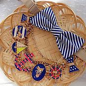 Аксессуары handmade. Livemaster - original item Tie butterfly Caribbean sea style. Handmade.