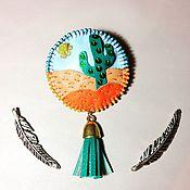 Украшения ручной работы. Ярмарка Мастеров - ручная работа Брошь в мексиканском стиле. Handmade.