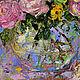 """Картины цветов ручной работы. """"Чудо Для Тебя"""" - картина маслом (розы в стиле прованс). ЯРКИЕ КАРТИНЫ Наталии Ширяевой. Интернет-магазин Ярмарка Мастеров."""