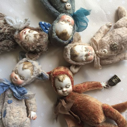 Коллекционные куклы ручной работы. Ярмарка Мастеров - ручная работа. Купить Тедди-долл котята.. Handmade. Комбинированный, котенок игрушка
