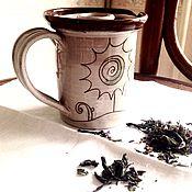 Посуда ручной работы. Ярмарка Мастеров - ручная работа Кружка-чайничек для травяного чая.. Handmade.