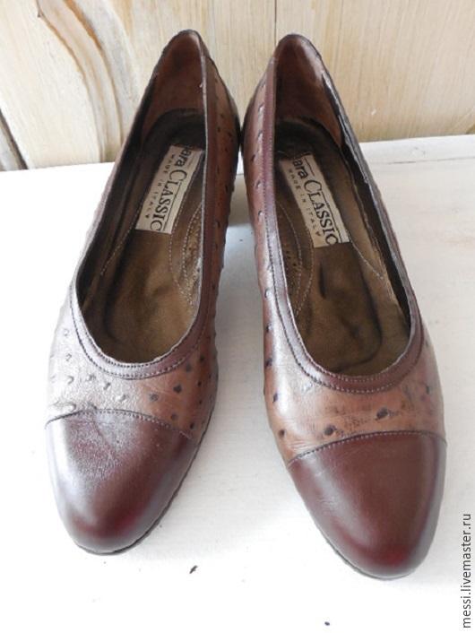 Винтажная обувь. Ярмарка Мастеров - ручная работа. Купить Женские туфли ARA, кожа страуса, винтаж, размер 37. Handmade.