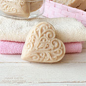 Косметика ручной работы handmade. Livemaster - original item Economic natural soap in the form of a heart for dry skin of hands. Handmade.