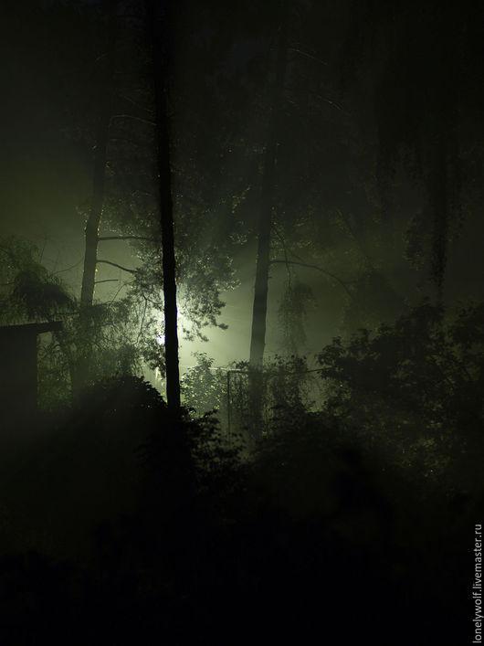 Фотокартины ручной работы. Ярмарка Мастеров - ручная работа. Купить Зелёный туман.. Handmade. Зеленый туман, туманная ночь