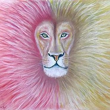 """Картины и панно ручной работы. Ярмарка Мастеров - ручная работа Картина """"Духовный лев"""", сухая пастель. Handmade."""