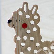 Куклы и игрушки ручной работы. Ярмарка Мастеров - ручная работа Развивающая игрушка Альпака или Лама.. Handmade.