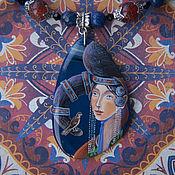"""Украшения ручной работы. Ярмарка Мастеров - ручная работа Кулон """" Девушка с птицей"""". Handmade."""