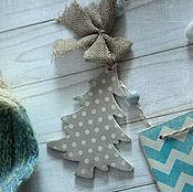 Для дома и интерьера handmade. Livemaster - original item Christmas garland Christmas tale of Skandi Garland decoupage. Handmade.