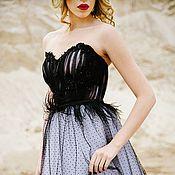 Свадебный салон ручной работы. Ярмарка Мастеров - ручная работа Чёрное свадебное платье. Handmade.