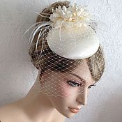 """Свадебный салон ручной работы. Ярмарка Мастеров - ручная работа Свадебная шляпка """"Айвори"""". Handmade."""