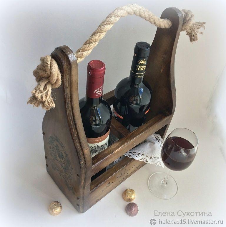 Короб для вина Винный короб Декупаж Мини бар Массив сосны