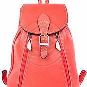 Сумки и аксессуары handmade. Livemaster - original item Small backpack leather jolie red. Handmade.