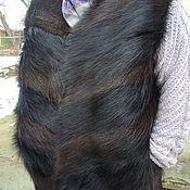 Одежда ручной работы. Ярмарка Мастеров - ручная работа меховой мужской жилет. Handmade.