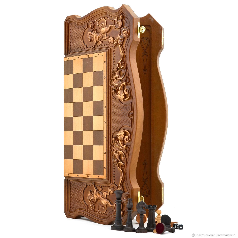 """Copy of Backgammon """"Three bears in the woods"""", Chess, Ivanovo,  Фото №1"""