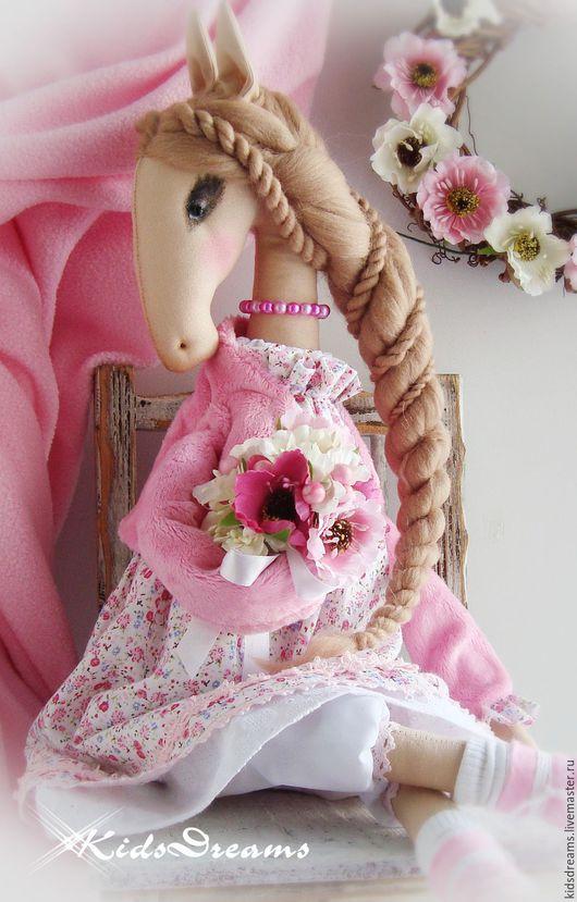 """Коллекционные куклы ручной работы. Ярмарка Мастеров - ручная работа. Купить Лошадка """"Розовая нежность"""". Handmade. Розовый, цветочный, любовь"""