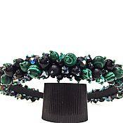 Украшения handmade. Livemaster - original item Rim of beads and stones (malachite). Handmade.