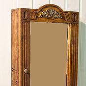 Для дома и интерьера ручной работы. Ярмарка Мастеров - ручная работа Дубовый навесной шкафчик с зеркалом. Handmade.