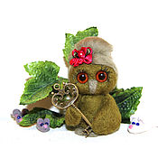 Куклы и игрушки handmade. Livemaster - original item Owl key from the new hollow and a lot of little mice. Handmade.
