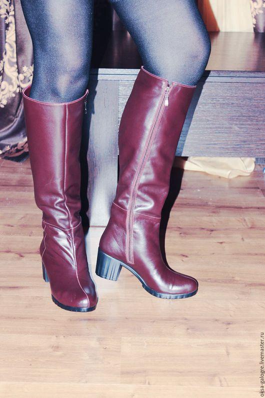 Обувь ручной работы. Ярмарка Мастеров - ручная работа. Купить Сапоги ручной работы.. Handmade. Бордовый, сапоги ручной работы