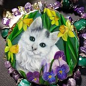 Украшения handmade. Livemaster - original item Pendant with a kitten