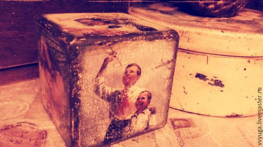 """Шкатулки ручной работы. Ярмарка Мастеров - ручная работа. Купить Интерьерные кубики """"Ностальгия"""". Handmade. Разноцветный, СССР, интерьерный кубик"""