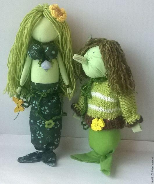 Сказочные персонажи ручной работы. Ярмарка Мастеров - ручная работа. Купить Русалочка. Handmade. Зеленый, водяной, подарок женщине
