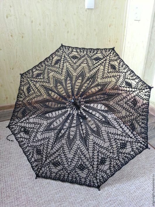 Одежда и аксессуары ручной работы. Ярмарка Мастеров - ручная работа. Купить Ажурный зонт. Handmade. Комбинированный, белый, зонт-трость
