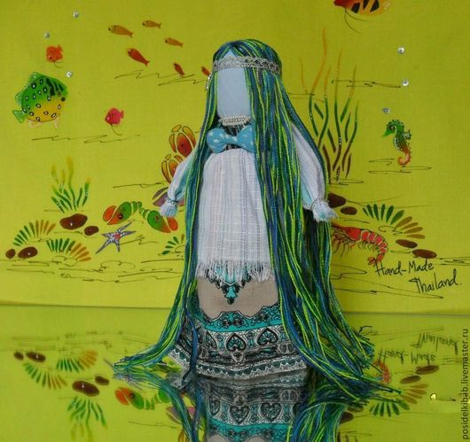 Народные куклы ручной работы. Ярмарка Мастеров - ручная работа. Купить Народная кукла  Русалка. Handmade. Зеленый, очистительная кукла