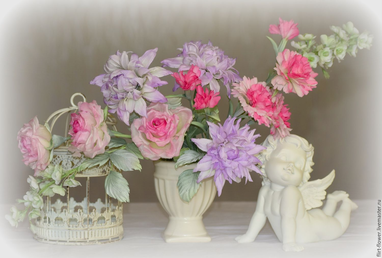 A Bouquet Of Silk Spring Pink Shop Online On Livemaster With
