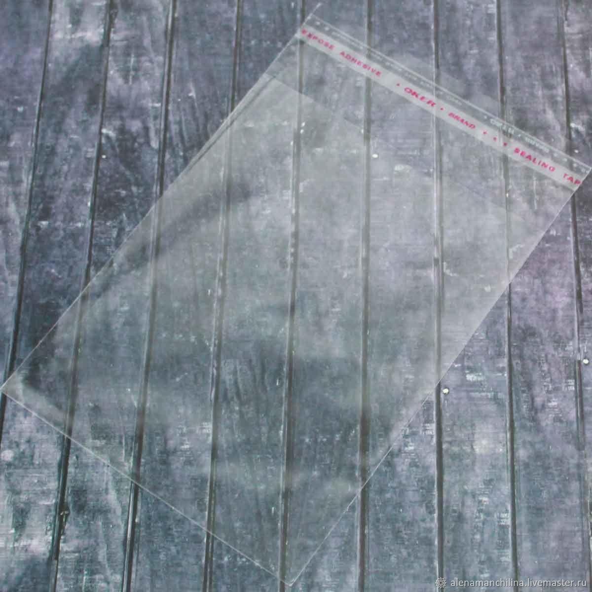 Пакет 12,5х12,5/17 см. ПП прозрачный с клеевым клапаном, Упаковка, Вольск, Фото №1