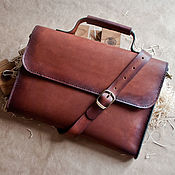 Сумки и аксессуары handmade. Livemaster - original item Leather document case, leather bag to buy. Handmade.