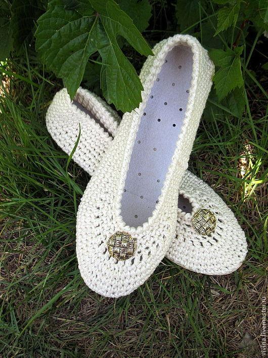 """Обувь ручной работы. Ярмарка Мастеров - ручная работа. Купить Балетки """"SummerTime """". Handmade. Фиолетовый, прованс"""