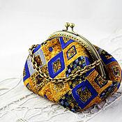 Сумки и аксессуары handmade. Livemaster - original item Cosmetic Bag with Clasp, Harlequin. Handmade.