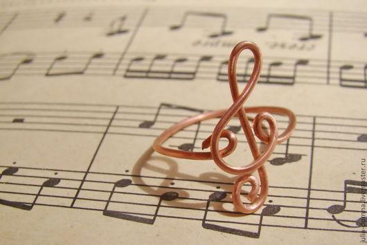 кольцо медное Музыка