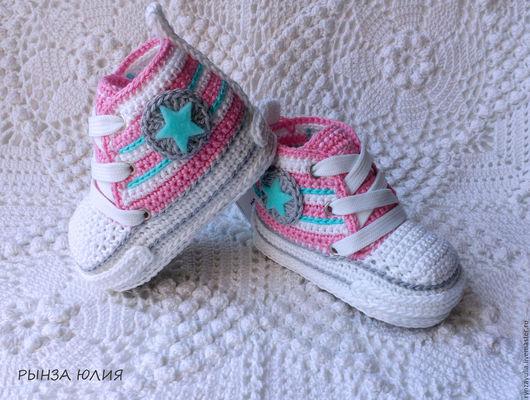 """Детская обувь ручной работы. Ярмарка Мастеров - ручная работа. Купить Кеды """"Конверсы"""". Handmade. Комбинированный, конверсы, верхняя одежда"""