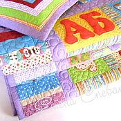 """Для дома и интерьера ручной работы. Ярмарка Мастеров - ручная работа Детское одеяло """"Алфавит""""цветной. Handmade."""