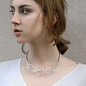 "Necklace handmade. Livemaster - original item Колье ""Air"" лэмпворк. Handmade."
