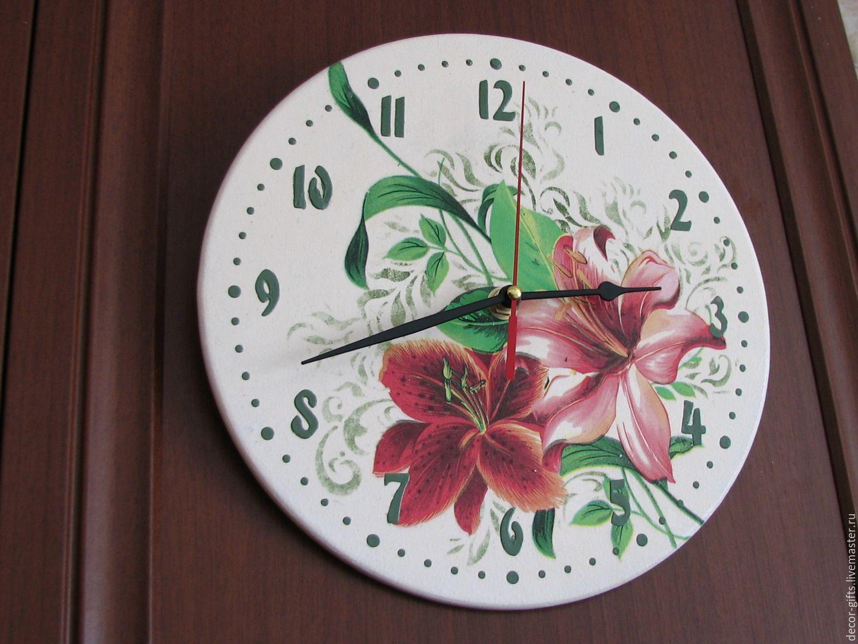 Декупаж настенные часы